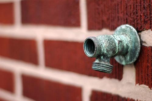 spigot on brick