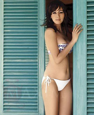 Shruti Agrawal in white bikini