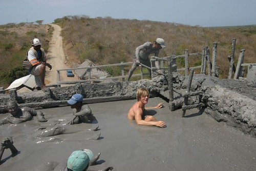 Getting in the gravity-defying El Totumo mud volcano