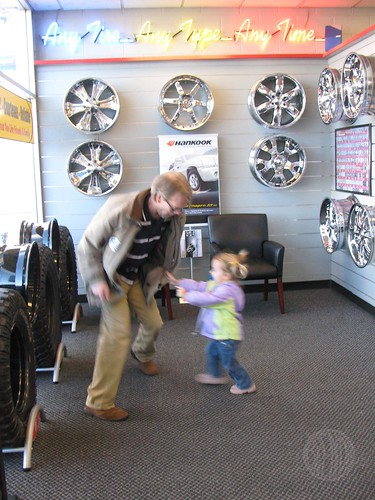 playing tag at the tire store