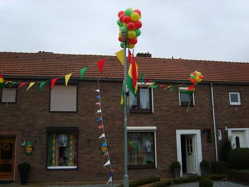Mijn huisje uiteraard ook versierd...