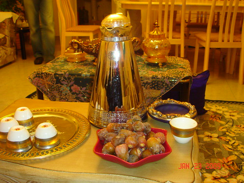 Incredible home-cooked meal at the Zaidanis, Riyadh - coffee + dates