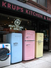 Three new old-fashioned fridges