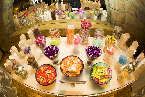 Funky fun colorful candy buffet