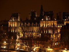 Hotel de Ville Paris @ night (Cybernyber) Tags: parisbynight pariscityhall parisdenuit parismonument hoteldevilleparis monumentdeparis cityhallparis