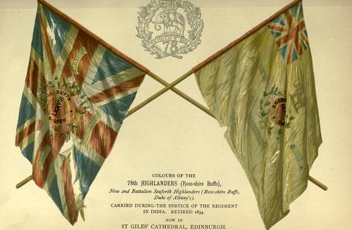 032-Banderas del Regimiento 78 de Highlanders