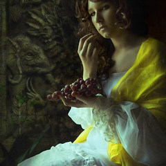 We now return to our regularly scheduled programing, (Daneli) Tags: color art classic yellow photoshop canon artistic florida roman feminine madonna romance fantasy grapes romantic classical disneysanimalkingdom verobeach mywinners flickrdiamond daneli