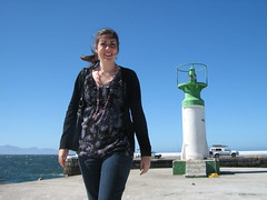 robyn on the pier (Pat Cullen) Tags: lighthouse beach lady pier robyn coastholidaycapetownculkbaybeach