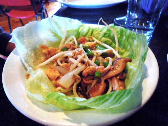 Silken bean curd san choi bow