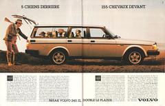 1985_Volvo 240 (Christophe Ramonet) Tags: advertising volvo pub ad advertisement advert werbung publicité reklame