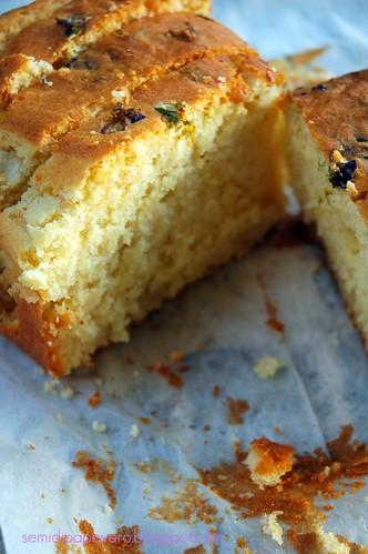 Fette cake al tarassaco e violette