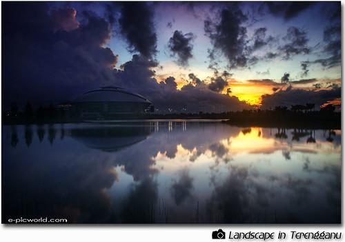 Terengganu Sports Complex at dawn