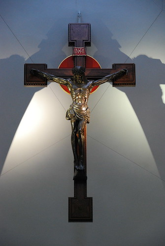 Crucifix inside the oratory