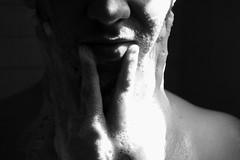 luz (Pamela De Girolamo.) Tags: light blackandwhite white man black male art luz water contraluz shower soap agua flickr shine arte shot skin body bodylanguage textures human ducha contraste ser fotografia humano hombre bubbly espuma cuerpo piel masculino bodylenguage jats backtoblack pameladegirolamo paraisobohemio