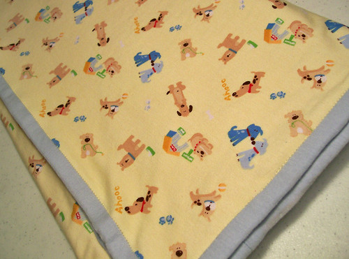 knit baby boy blanket