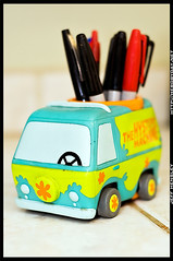 Day 177/365 - Mystery Machine (herobyday) Tags: color writing toys 50mm nikon scoobydoo ttl 365 pens speedlight mysterymachine sharpies strobe cls d300 sb800 thift strobist herobyday