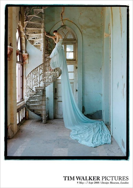 Tim Walker Poster - Lily Cole On A Spiral Staircase