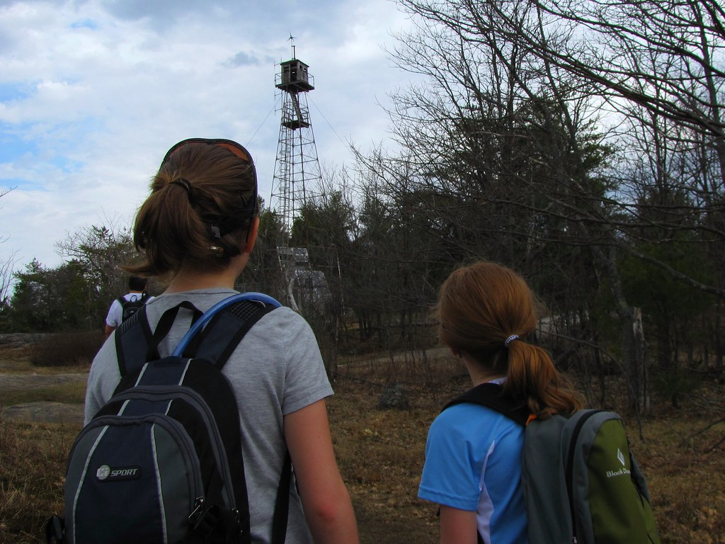 Arriving at the fire tower