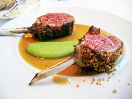roast rack of lamb @ jean-georges