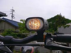 100円ショップ自転車ヘッドライト #3