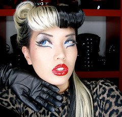 Makeup Mayhem Leopard Love (amelia.arsenic) Tags: makeup leopard rockabilly amelia pinup arsenic
