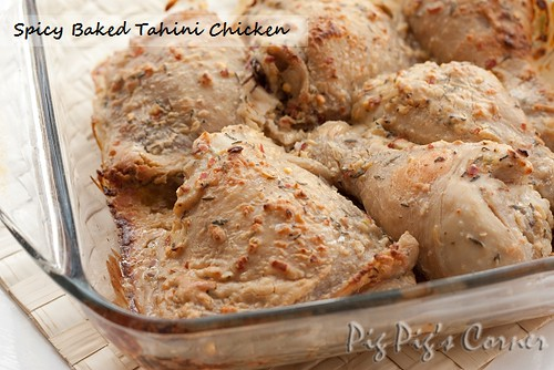 spicy baked tahini chicken 1