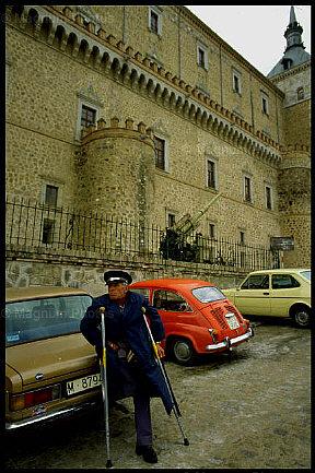 Alcázar de Toledo en 1985. Foto de Ferdinando Scianna para Magnum Photo