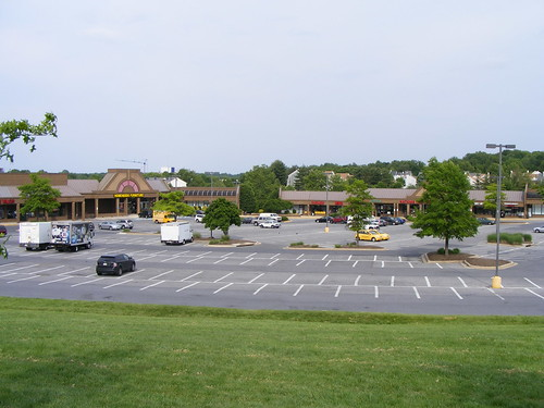 Empty Parking Lot, Olney Town Center