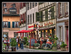 Petite France Again ! (Mike G. K.) Tags: street houses windows people france architecture traditional restaurants tourist strasbourg petitefrance hdr cafes paved photomatix tonemapped tonemapping 1exp singlejpghdr