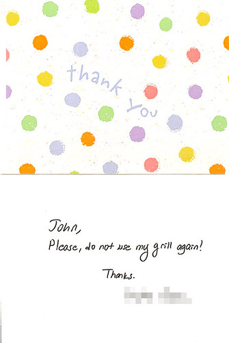 passiveaggressivenotes: Thank you note: You're very welcome!
