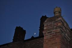 Summer night (Dun.can) Tags: nottingham blue summer chimney sky moon silhouette night victorian redbrick notts hockley chimneypot midnightblue