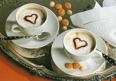 Heart Breakfast (selphie10) Tags: cute breakfast germany hearts sweet drinking drinks cappuccino amaretti coockies