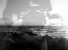 Ovunque tu sarai. ([L] di .zuma) Tags: bw me self canon mare bn gallipoli spiaggia biancoenero specchio riflesso riflettere