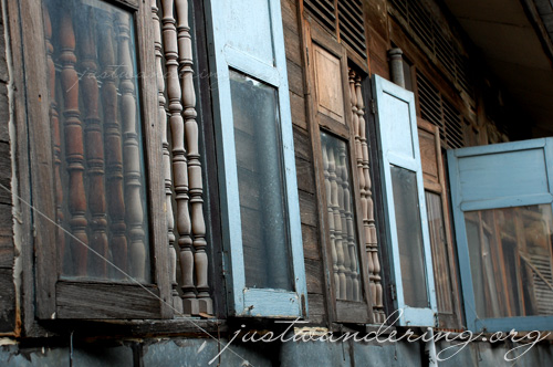 The neighbor's windows