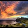 Glow before dark... (Chantal Steyn) Tags: ocean pink light sunset weather clouds island coast nikon glow handheld hdr d300 3exp flickrsbest abigfave alemdagqualityonlyclub nikkor1685mm goughisland