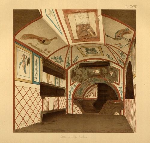 012- Escena del cubiculo denominado Oceano-La Roma sotterranea cristiana - © Universitätsbibliothek Heidelberg