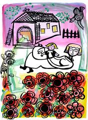 hers (* Little Circus Design *) Tags: tattoo illustration skulls skeleton pattern decorative australiana floralpattern brushandink thedayofthedead birdimages brushink melbourneart australianart contemporaryillustration blackandwhiteimages thejackywintergroup monochromaticcolour littlecircusdesign madeleinestamer littlebirdsville limitededitiongicleeprints australianillustration contemporaryfolkstyle