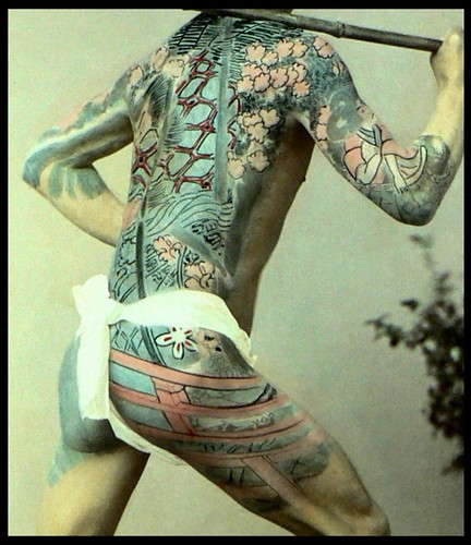 THE JAPANESE TATTOO -- Art & Artifice in 19th Century Hand Colored