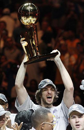 Pau Gasol campeón de la NBA