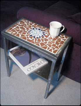 Sunspot Mosaic Side Table