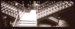 Congruencia Divergente (jbilohaku) Tags: byn film mxico stairs 35mm lomo mexicocity df stair escalera step escaleras distritofederal pelcula ciudaddemxico 2way escaln meksikurbo teparo filmisnotdead redcamera 2wayvista