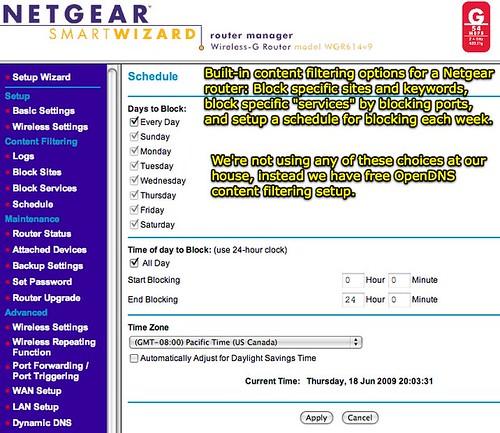 NETGEAR Router - Content Filtering