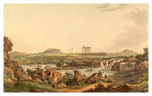 027- Templo de Jupiter Olimpo en el rio Ilissos-Views in Grece 1821