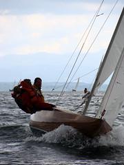 Münchner Woche 2009 - D GER-433 (Topher_MUC) Tags: lake water juni bayern bavaria waves dragon crew mast tutzing 2009 starnbergersee drachen rumpf bugwelle wanten dtyc holzdrachen ger433