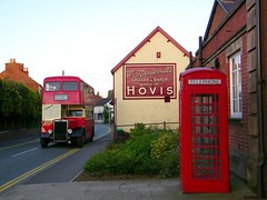 Britishness. (Renown) Tags: buses cheshire telephone payphone bakery titan pops coaches doubledecker callbox leyland hovis redtelephonebox pmt northerncounties holmeschapel ncme potteriesmotortraction opd2 potteriesomnibuspreservationsociety l466
