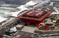 A bird's eye view of China Pavilion for the Shanghai 2010 World Expo   (Meiguoxing) Tags: world china architecture design shanghai expo architect universal    chine attraction pavillon 2010 exposicin worldexpo chinapavilion   universelle weltausstellung       lexposition