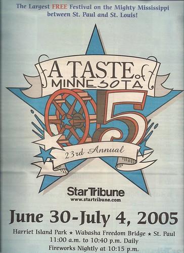2005 Taste of MN Festival Program