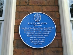 Photo of Ellen Heaton and Christina Georgina Rossetti blue plaque