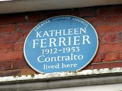 Photo of Kathleen Ferrier blue plaque