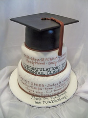 Son's Pre-K Graduation Cake (Cake is Life ~ Emily) Tags: white black cake purple maroon graduation handpainted tassel fondant graduationcap